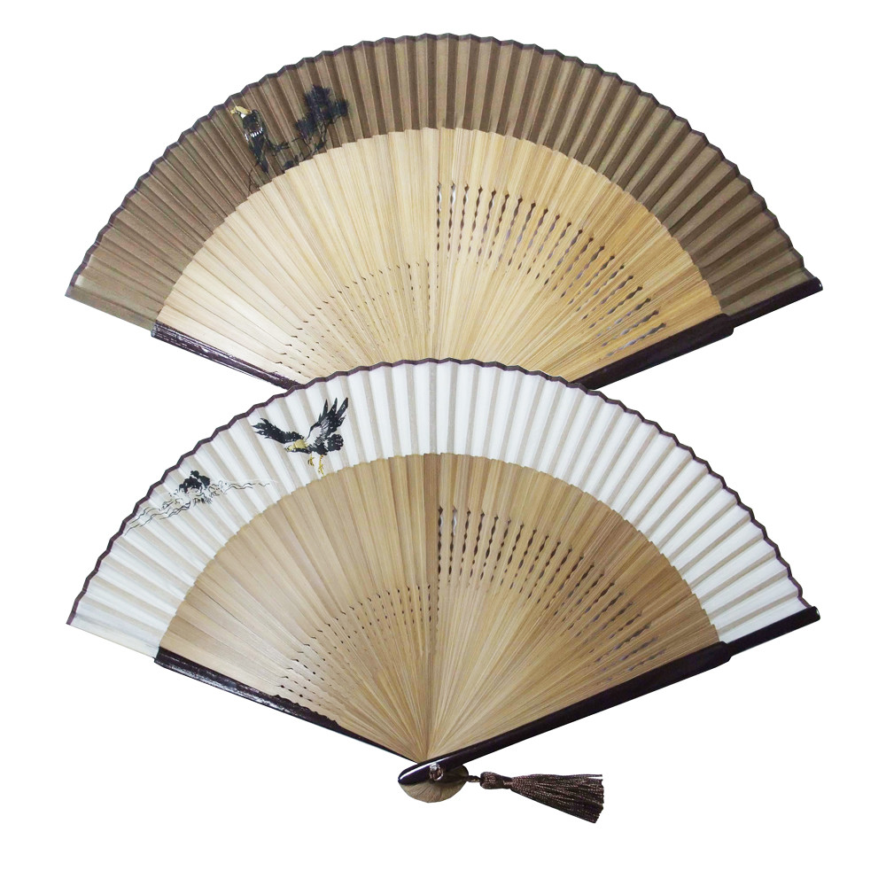 Hand-Painted Silk Folding Fan for Men   Export Japanese products to the  world at wholesale prices - SUPER DELIVERY