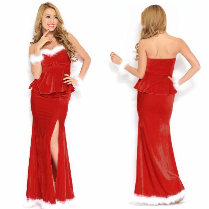 0502026849fa1 ふわふわブレス付き♪2ピースペプラムロング サンタクロース サンタドレスの商品ページ 卸・仕入れサイト スーパーデリバリー