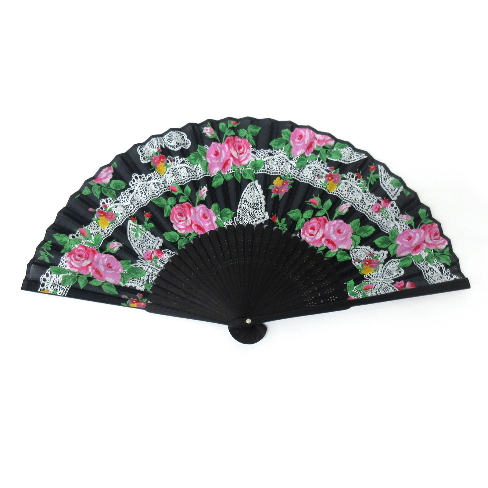 Black Lace Fan Accessory