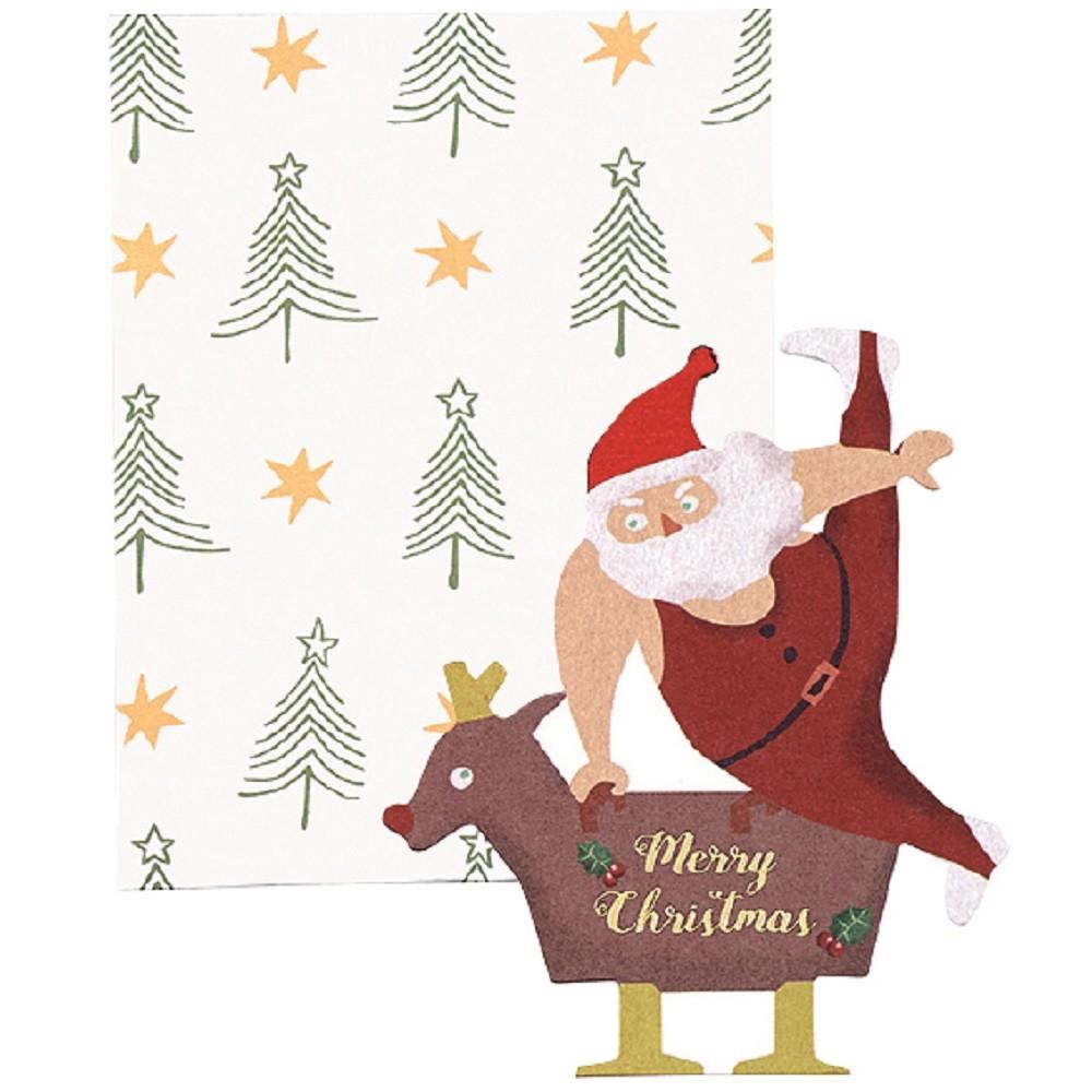 Christmas Card Santa Card Gymnastics | Export Japanese products to ...