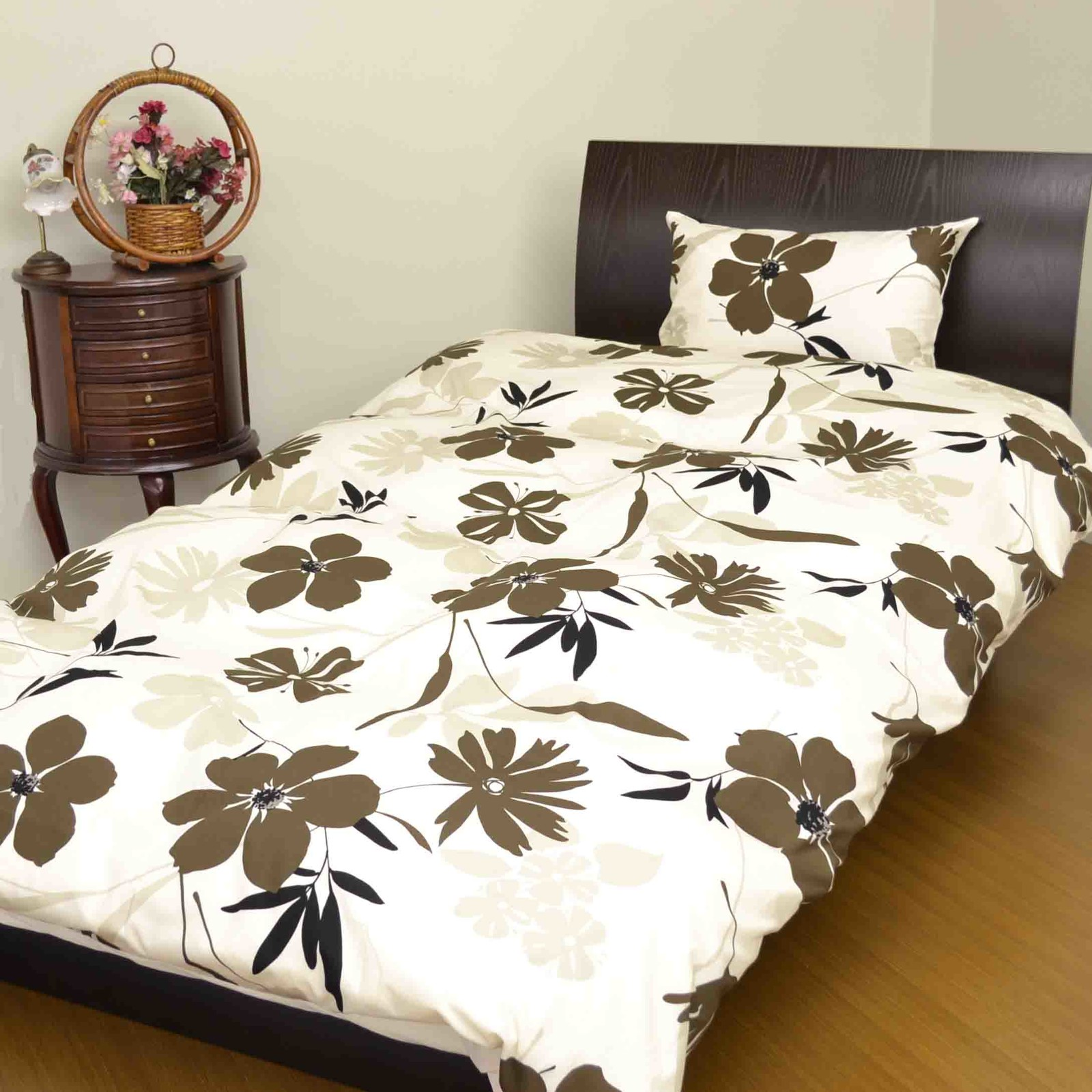 Modern Floral Pattern Bedspread Cover Mattress Cover Pillow Case Import Japanese Products At Wholesale Prices Super Delivery