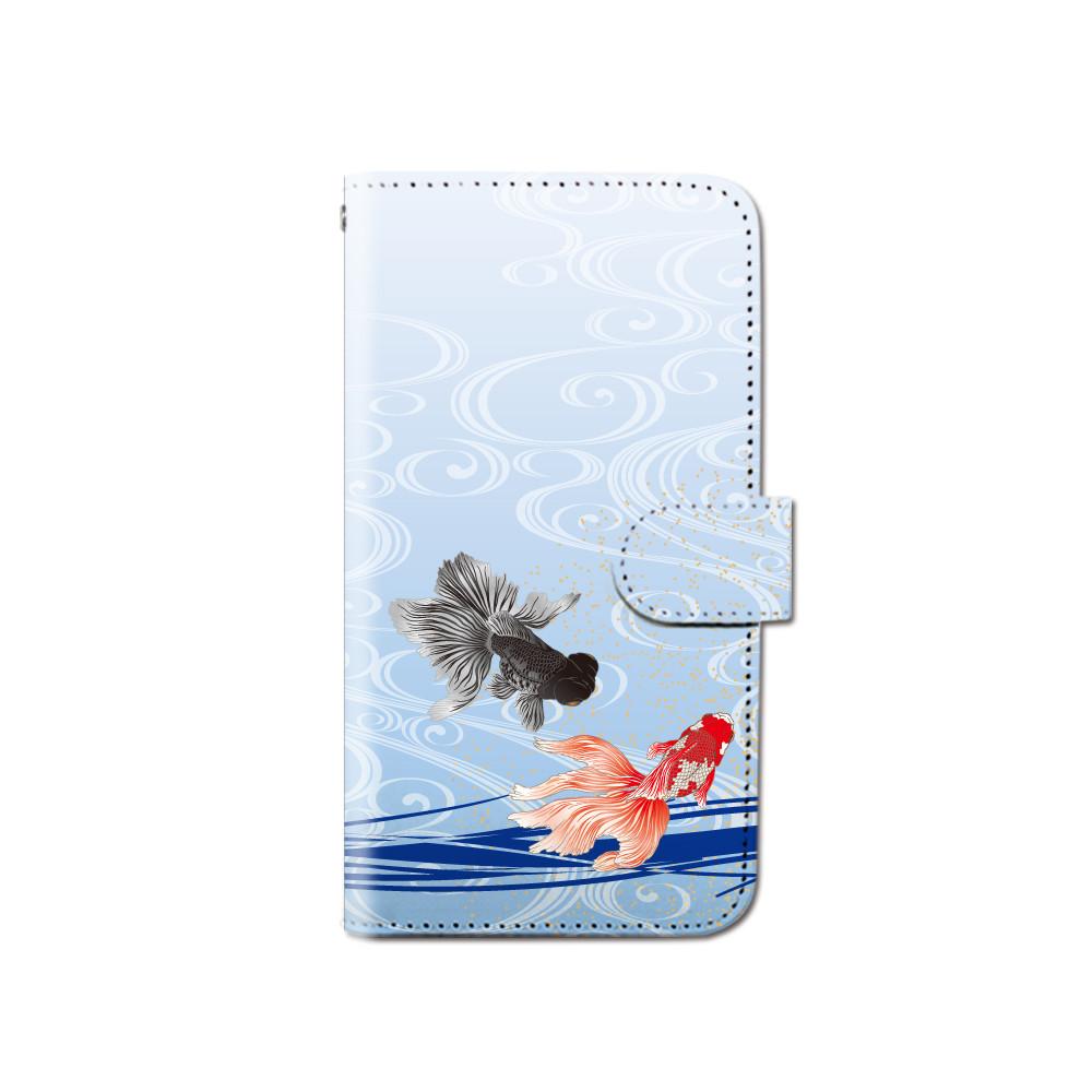 Smartphone Case Notebook Type Model Goldfish Japanese
