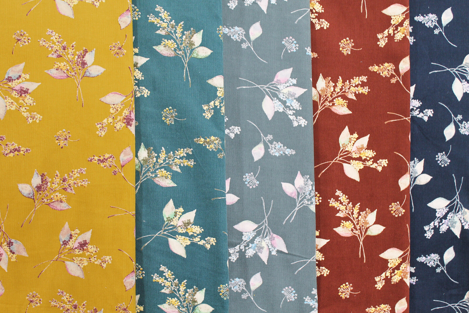 Fabric 5 Colors Floral Pattern Export Japanese Products To The