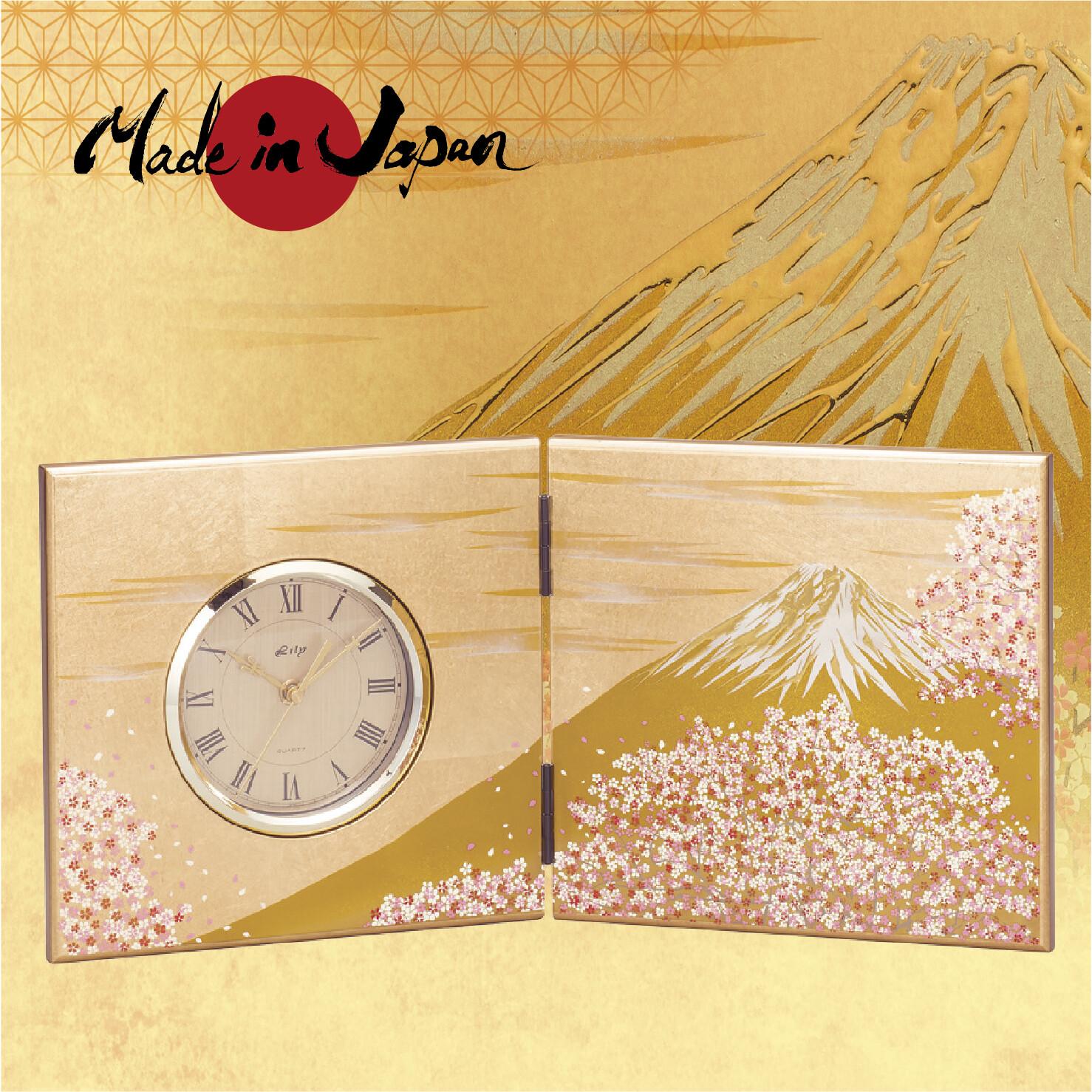 Fuji Miyabizakura Folding Screen Clock L Import Japanese Products At Wholesale Prices Super Delivery