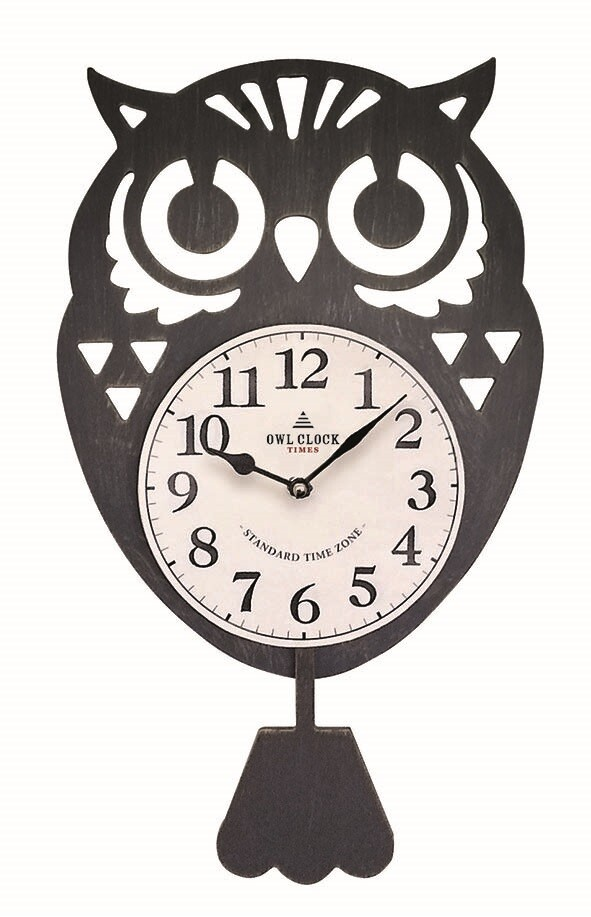 Owl Pendulum Clock Watch Black Export Japanese Products To The World At Wholesale Prices Super Delivery