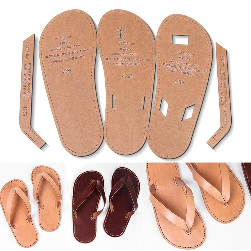 Leather Craft Sandal TEMPLATE Pattern