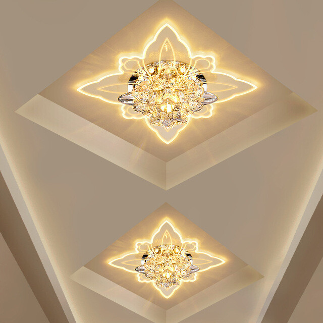 Led Ceiling Light Crystal Mirror