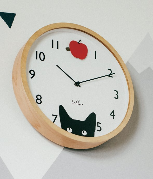 Wall Clock Wall Clock Cat Animal Pendulum Clock Watch Export Japanese Products To The World At Wholesale Prices Super Delivery